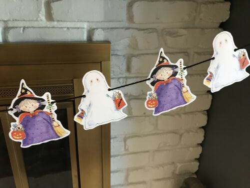 18 Die-Cut Printable Halloween Ghost /& Witch Invitations//Gift /&Goody Bags//Crafts