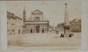 Carlo Ponti St.Maria Novella Florence Italia CDV Foto Vintage Albumina c1860-5