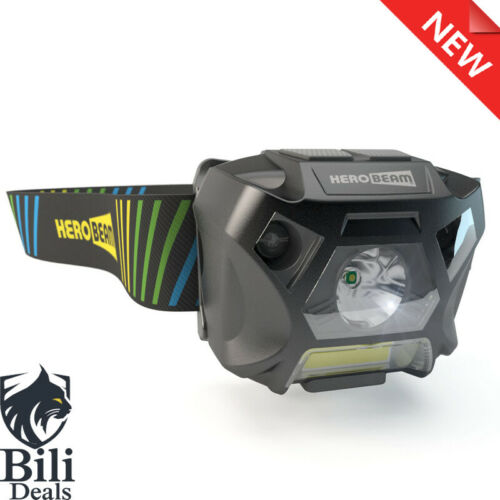 USB Rechargeable Headlamp for Running HeroBeam® Ultimate Head Torch Dog Wa