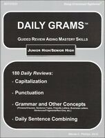 Easy Grammar - Daily Grams Guided Review Aiding Mastery Skills Jr/sr High Revise