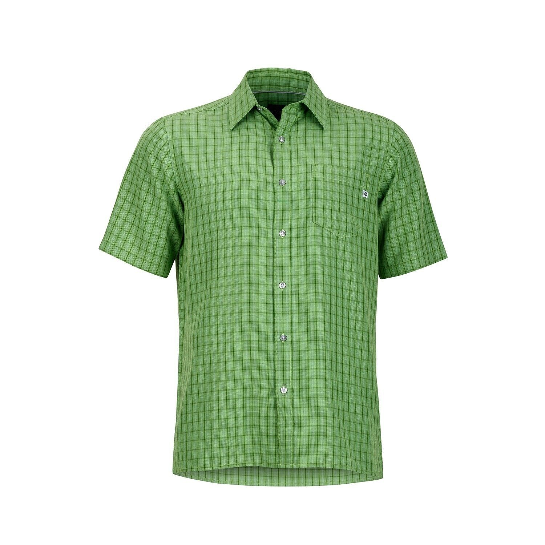 Marmot Eldridge Shirt Short Sleeve,Size M, Function Shirt for Men, Field Green