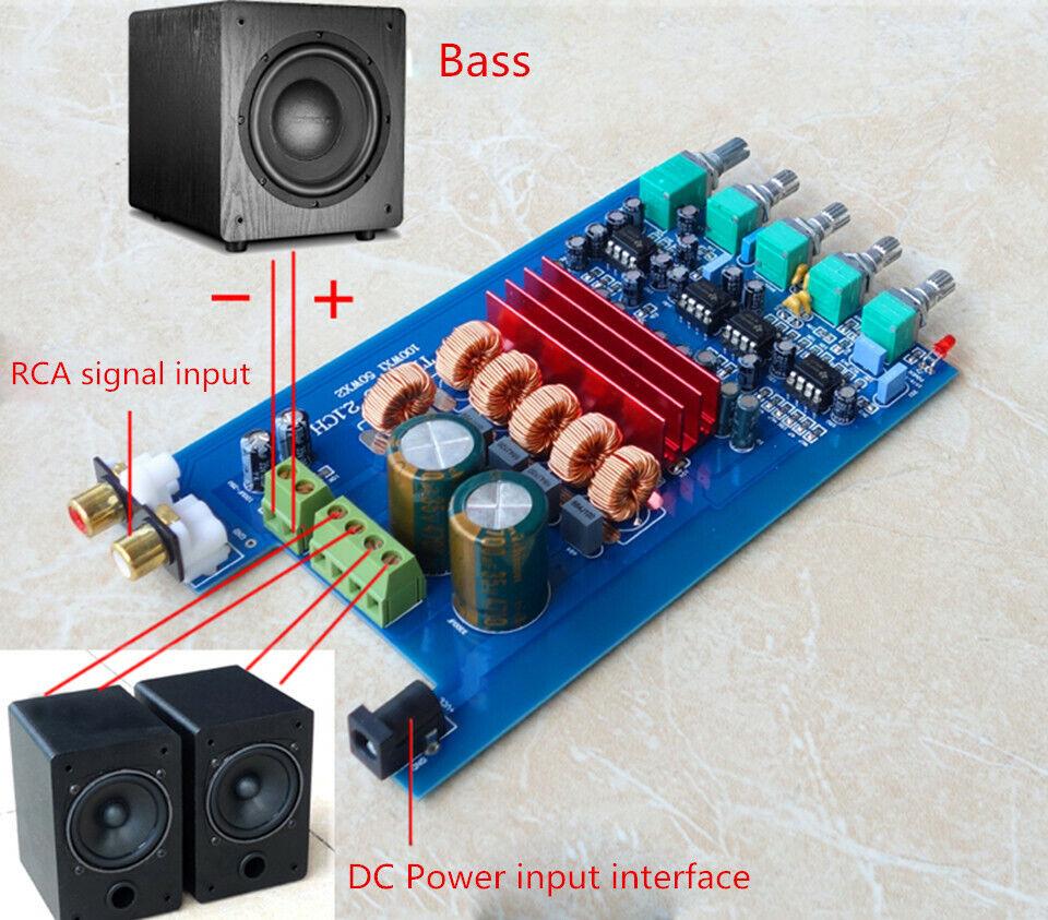 TPA3116D2 2.1 HIFI Digital Power Amplifier Subwoofer Bluetooth 4.2 50WX2 100WX1