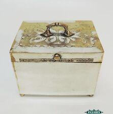 Superb Vintage Silver Plated Ethrog Etrog Box Israel 1950s Judaica