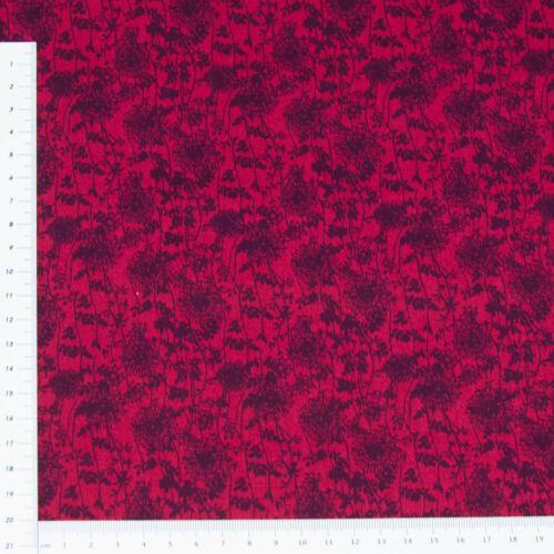 Flores rojo oscuro arcilla en arcilla 140 cm de ancho algodón patchwork decorativas 0148