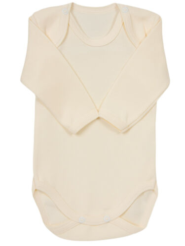CLEARANCE Plain Baby Girls Boys Long Sleeved Bodysuit Vest 100/% Cotton