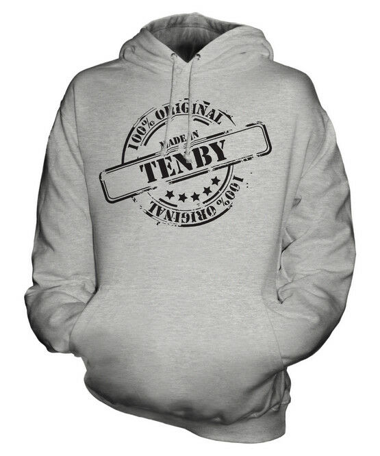 MADE IN TENBY UNISEX HOODIE  Herren Damenschuhe LADIES GIFT CHRISTMAS BIRTHDAY 50TH