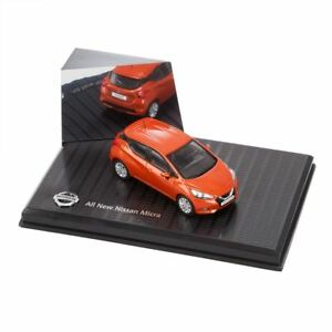 Genuine-Naranja-Nissan-Micra-1-43-Escala-Modelo-2017