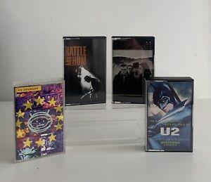U2 Cassette Tapes Rattle & Hum Joshua Tree Zooropa Hold Me Thrill Me Kiss Me X 4