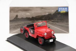 1-43-Altaya-Jeep-Willys-Corpo-De-Bombeiros-Diecast-Models-Toy-Car-Collection-IXO