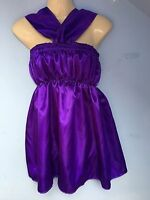 purple satin dress adult baby fancy dress sissy french maid cosplay fits 36-46