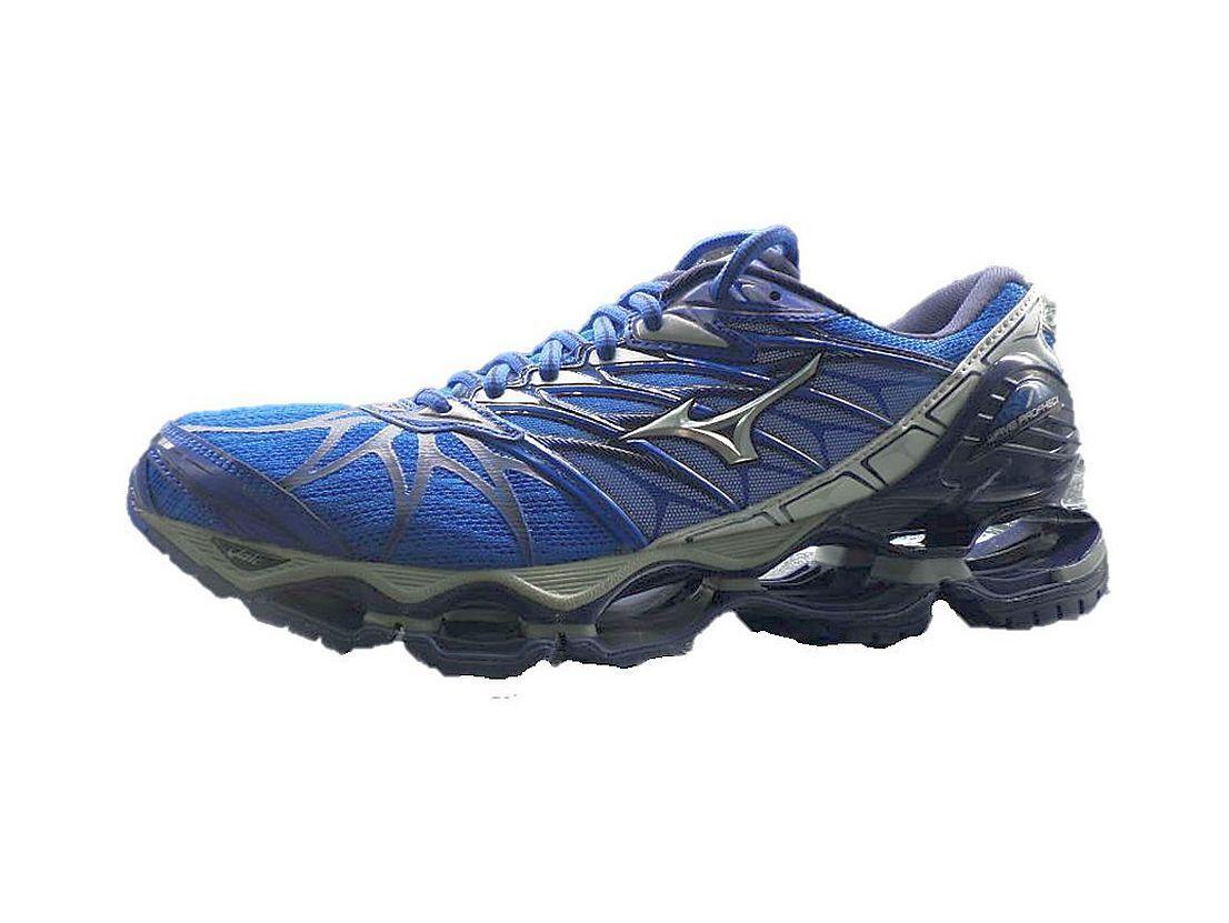 Mizuno Wave Prophecy 7 Blue Gray Silver Men  Running Shoes  New J1GC180004 17D