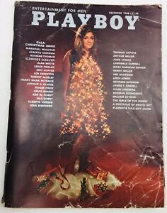 1968-December-PLAYBOY-Vargas-Pinup-2pp-Gala-Christmas-Issue-Fair-Condition