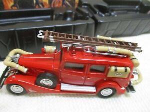 MATCHBOX DIECAST FIRE ENGINE YFE03 1933 CADILLAC FIRE WAGON