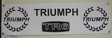 triumph TR6 heavy duty large pvc  WORK SHOP BANNER garage man cave