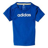 adidas Infant Kids Boys Favourite Brand T-Shirt Tee Blue