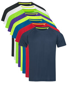 ACTIVE-DRY Breathable Smooth Sleak Polyester Body Fit Sports Tee T-Shirt Tshirt