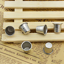 10pc Dressmakers Vintage Metal Finger Thimble Protector Sewing Neddle Shield FF8