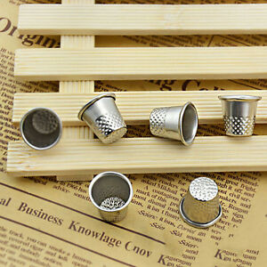 10pc-Dressmakers-Vintage-Metal-Finger-Thimble-Protector-Sewing-Neddle-Shield-HF
