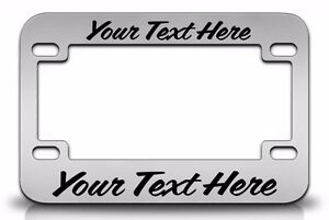 Custom Personalized Metal Chrome Motorcycle License