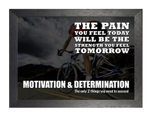 3 INSPIRATIONAL MOTIVATIONAL QUOTE POSTER BOXING RUNNING BODYBUILDING  CYCLING