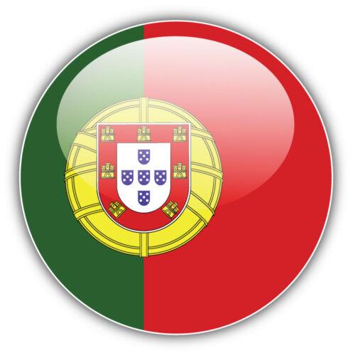 Portugal Glossy Flag Label Car Bumper Sticker Decal 3/'/' or 5/'/'