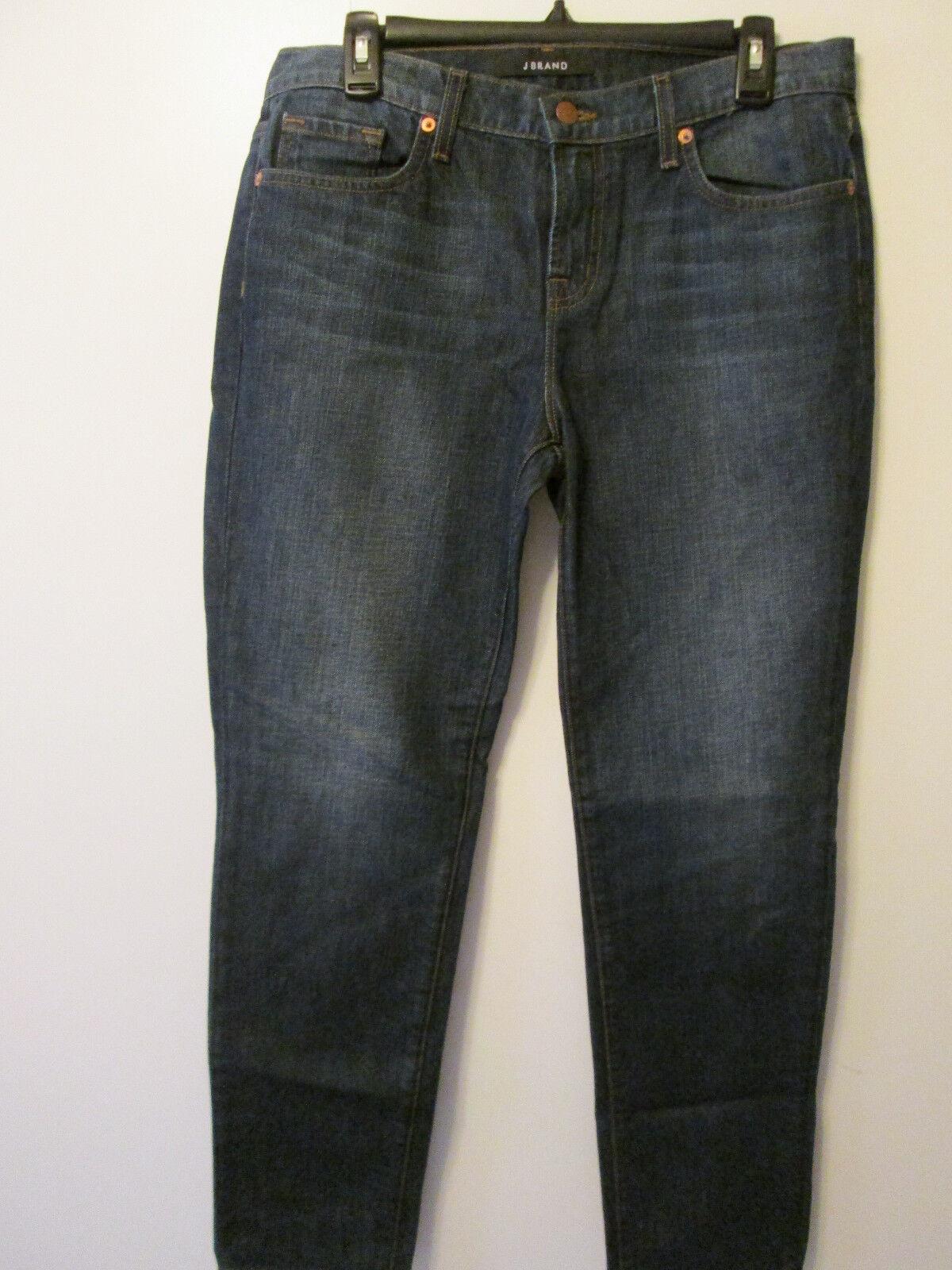 J Brand Jeans Aidan Ringer Slouchy Boy Jean Dark Wash Ankle Length Sz 28 NWT