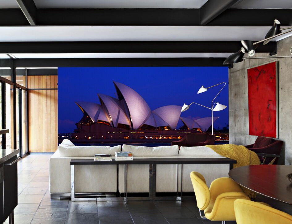Enorme 3D noche Sydney Pared Papel Pared Calcomanía Pared Pared Pared Deco interior murales de impresión 43cf73