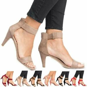 Women-039-s-Thin-High-Heels-Sandals-Summer-Open-Toe-Ankle-Strap-Ladies-Pumps-Shoes