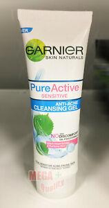 Garnier Skin Naturals Pure Active Sensitive Anti Acne Cleansing Gel 50 ml.