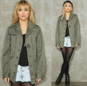 MILITARY ARMY VINTAGE SHIRT JACKET F2 KHAKI LADIES WOMENS SURPLUS ...
