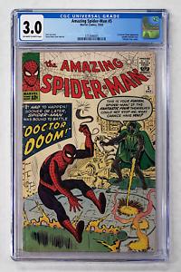 AMAZING-SPIDER-MAN-5-CGC-3-0-DOCTOR-DOOM-FANTASTIC-FOUR-1963
