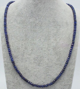 Handmade-2x4mm-Natural-Blue-Sapphire-Faceted-Gemstone-Beads-Necklace-18-039-039