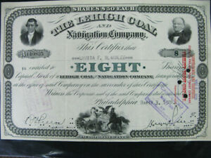US-Stock-certificate-1928-Lehigh-Coal-And-Navigation-Co