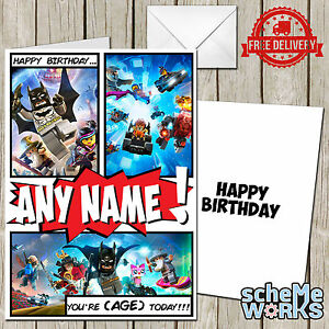 Lego dimensions personalised greeting birthday card batman movie image is loading lego dimensions personalised greeting birthday card batman movie bookmarktalkfo Images