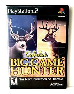 Cabela-039-s-Big-Game-Hunter-PS2-Video-Game-Complete-Tested-Good-Condition