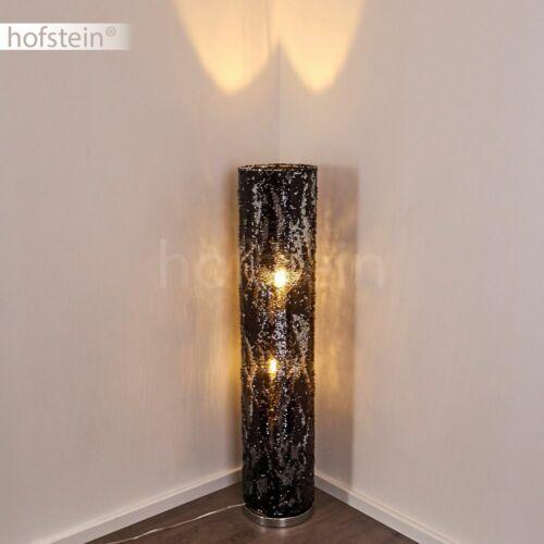 schwarz//silber Boden Stand Steh Lampen Leuchten Wohn Schlaf Zimmer Beleuchtung