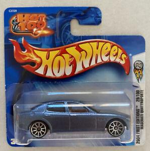 2004-HOTWHEELS-Maserati-Quattroporte-Grigio-PRIME-EDIZIONI-molto-RARO-Nuovo-di-zecca-MOC