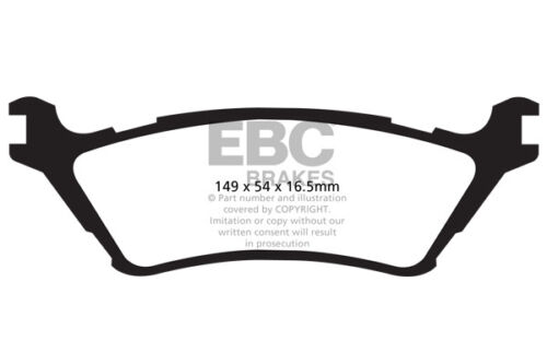 EBC Ultimax Rear Brake Pads for Ford F-150 4WD 2012-2014 DP1891