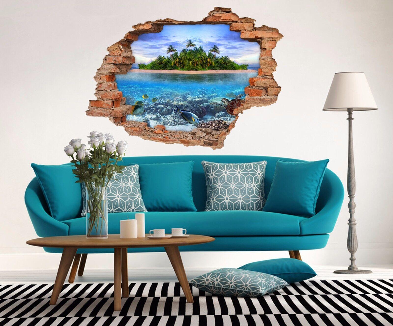 3D Insel Meer 843  Mauer Murals Mauer Aufklebe Decal Durchbruch AJ WALLPAPER DE