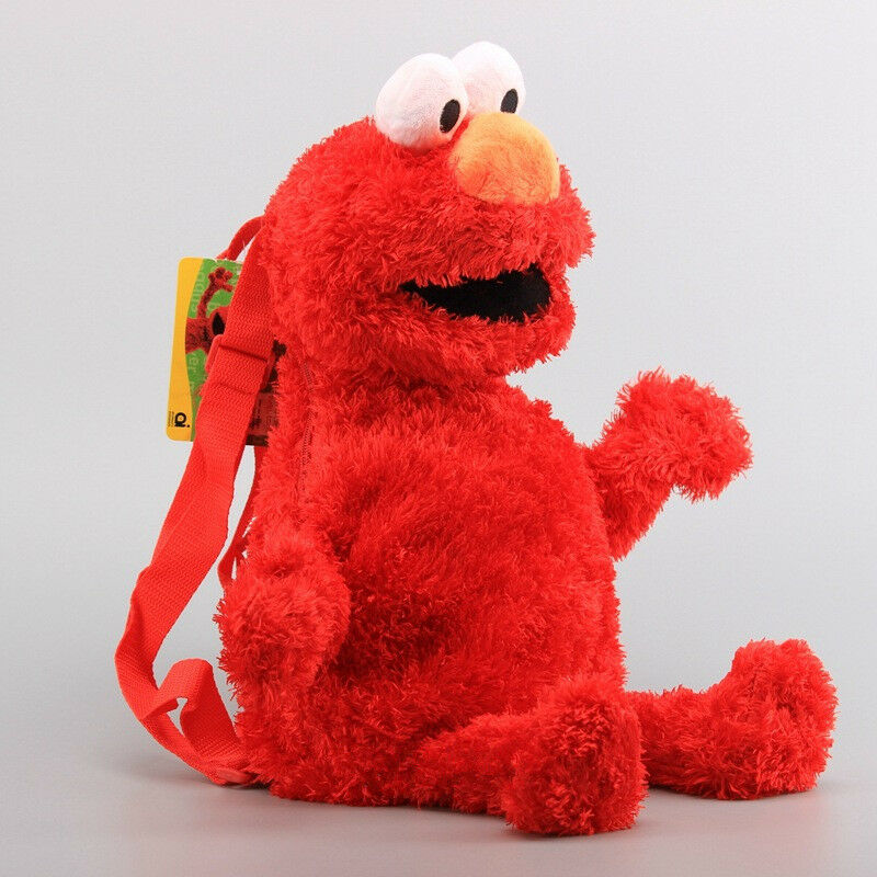 Sesamstraße Krümelmonster/Elmo monster 3D Rucksack Tasche Plüschfigur Stofftiere