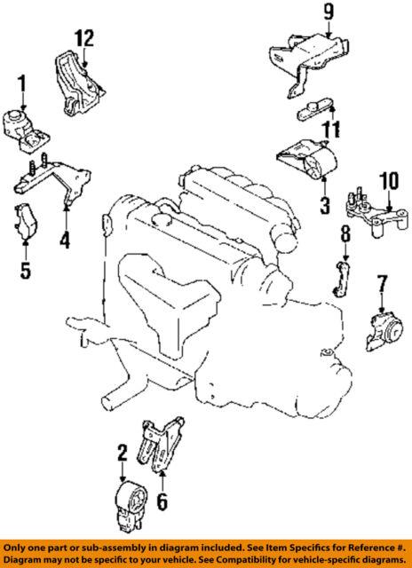 mazda oem 88-92 mx-6-engine motor mount torque strut gj2139070d