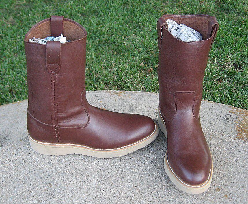 Nuevo suave del dedo del pie botas de vaquero para hombre 12'D