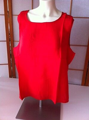 NEW M 100% SILK Maurada RED Sleeveless Tank Top Shell 1207 nwt ladies casual