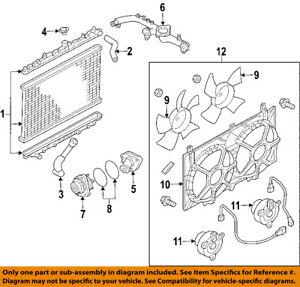 s l300 nissan oem 07 09 350z radiator cooling fan blade shroud 21483ev00a