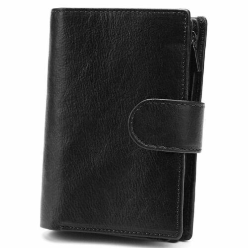 Large Capacity Genuine Leather Men Passport Cover Wallet Credit Card Coin Purse