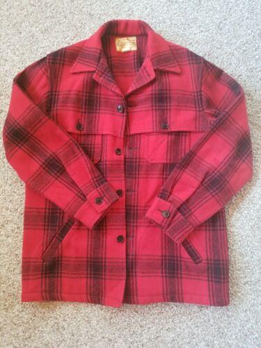 Vintage Bemidji Woolen Mills Red Buffalo Plaid Ven