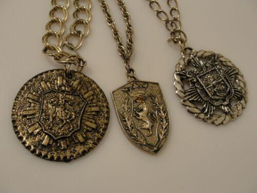 vintage coat of arms heraldic medallion pendant ne