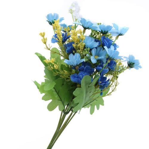 2X Beautiful Artificial Fake Daisy Flower Bouquet Flowers Bunch Wedding Decor LA