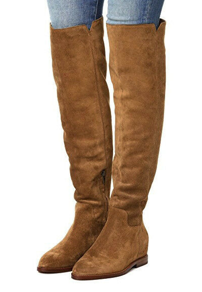 83a9a4fd410 Ash Jess Tall Suede Over-the-knee Hidden Wedge Boot EUR 37 us 7 Russet  Brown for sale online
