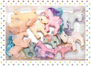 ❤️My Little Pony MLP G1 Vtg Custom Bait TLC Mixed Lot 10 Ponies Baby Pockets❤️